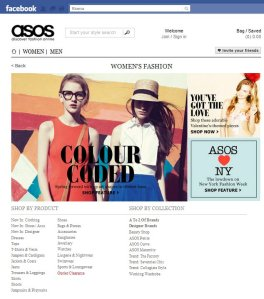 facebook asos shop online
