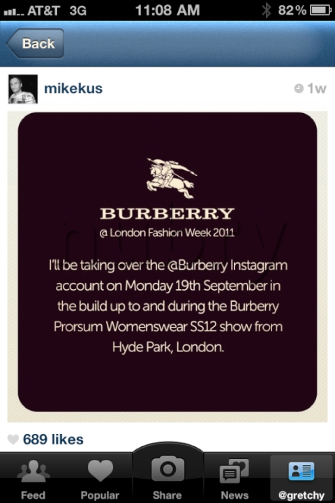 burberry Mike Kus instagram